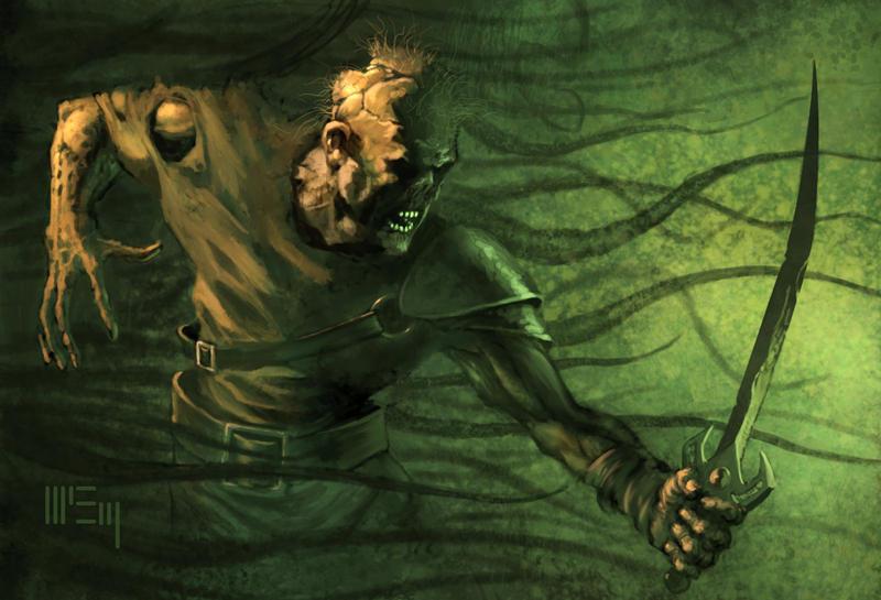 Zombie Warrior by PatrickMcEvoy
