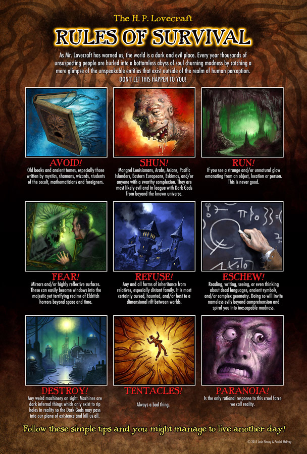 Lovecraft Survival poster by PatrickMcEvoy