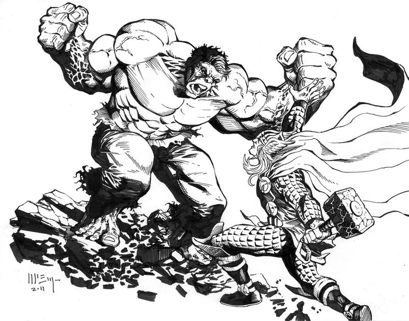 Thor Vs. Hulk Commission By PatrickMcEvoy On DeviantArt