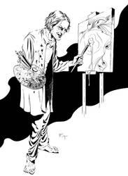 Case File: Arkham - Pickman sketch by PatrickMcEvoy