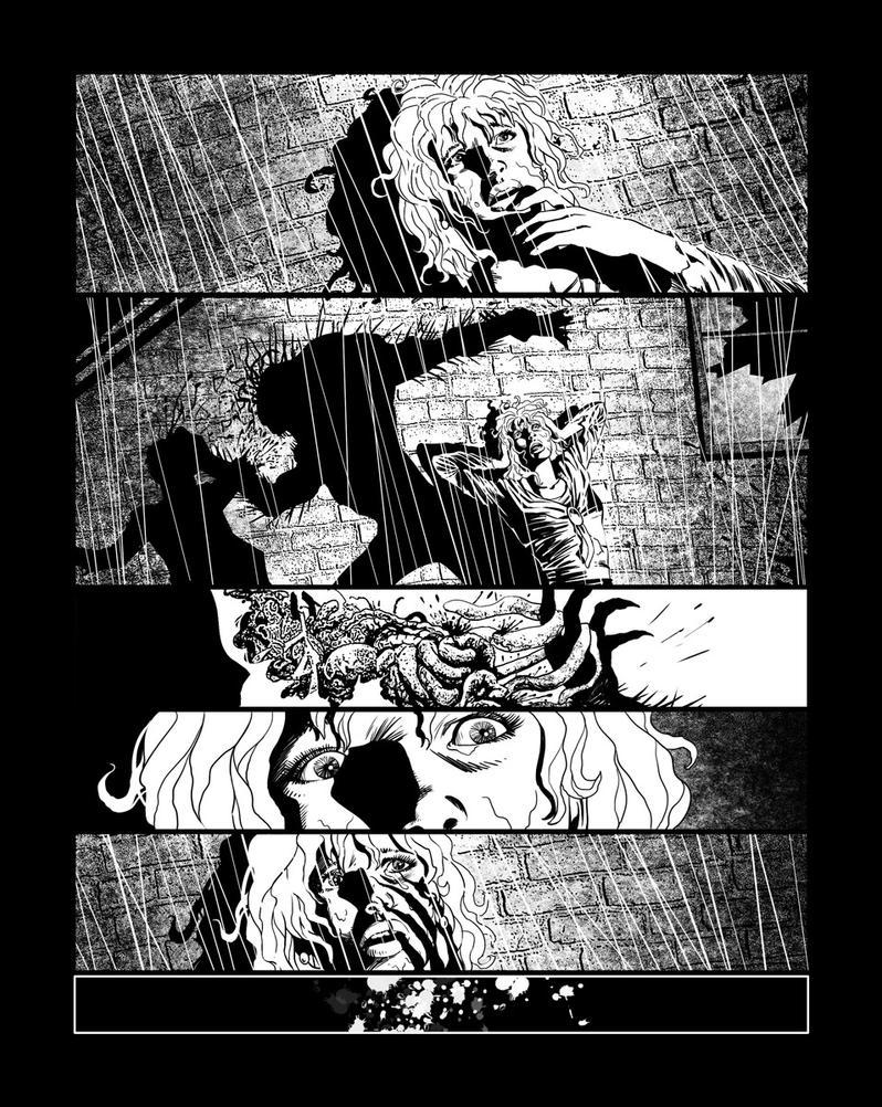 Casefile: Arkham pg 5 - a messy end by PatrickMcEvoy