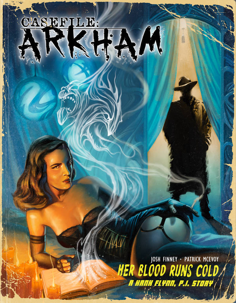 Casefile: Arkham - pulp-style cover