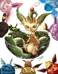[Charity Collab]Leafeon with Ice Cream