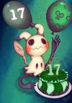 [Challenge]Deviantart-17-birthday-Mimikyu