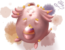 [Collab]Easter Chansey by Gartendrache