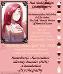 [Creepypasta OC]Character Chart: The Baker