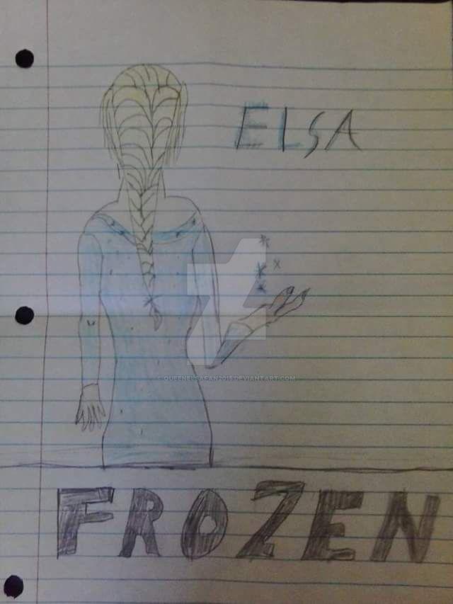 my Elsa drawing by queenElsafan2015