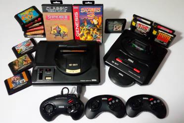 The Sega Mega Drive collection.