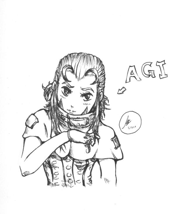 Agi fanart by GaBoOwnz