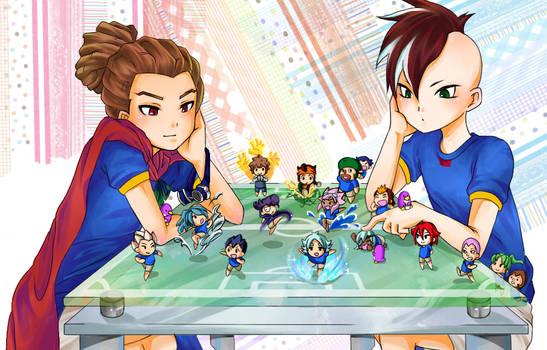 Inazuma Eleven-Kidou and Akio
