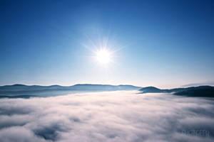 Ocean of clouds by PoppyHunter