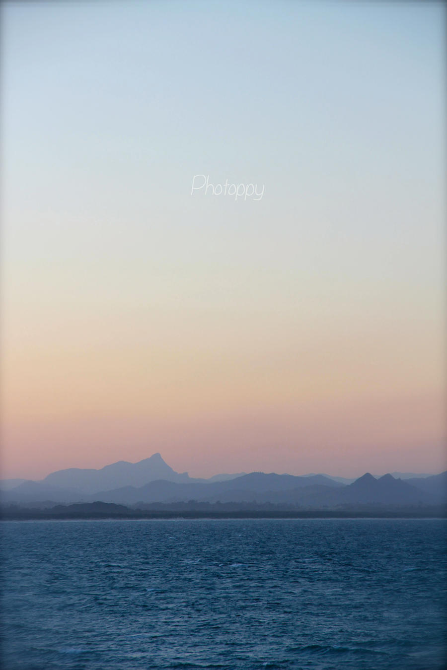Faded mountain layers by PoppyHunter