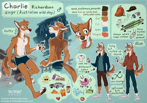 Charlie Richardson the dingo reference sheet 2018