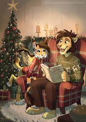 Read me a tale, my lion by multyashka-sweet