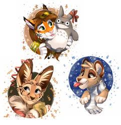 Christmas cats by multyashka-sweet