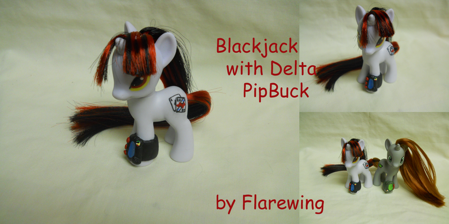 Blackjack with Delta PipBuck by flarewingpwny