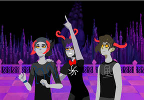 Feansa, Evander, And Hercales by AProudHomestuck
