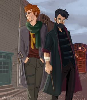 Auror Potter and Weasley by Aquafolie