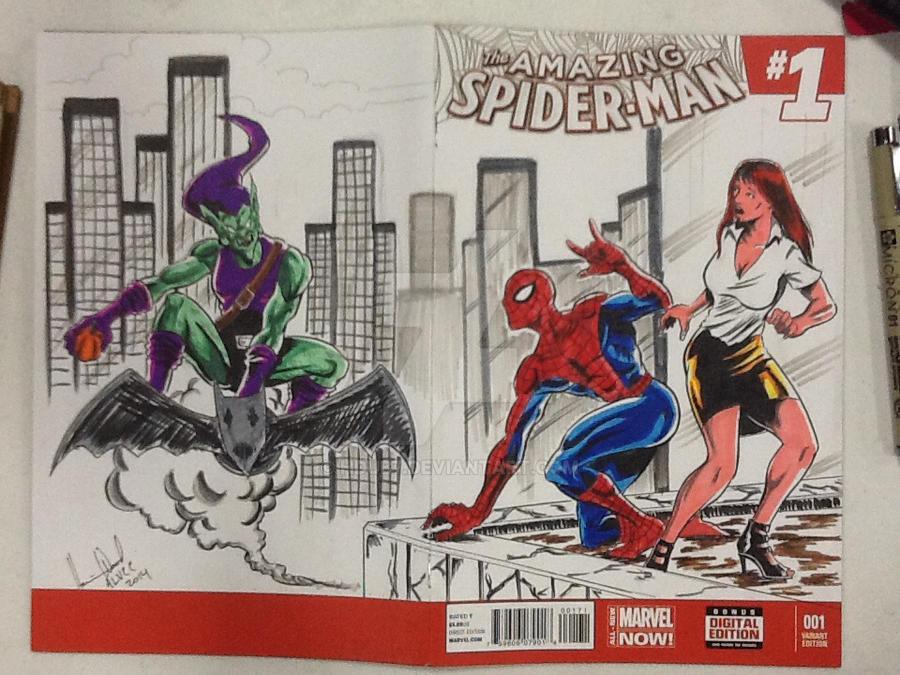 Spideys sketch cover 2 by hdub7