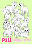 P2U - Chibi Dog Bases by mrtiaa