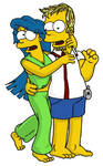 Teen Homer and Marge
