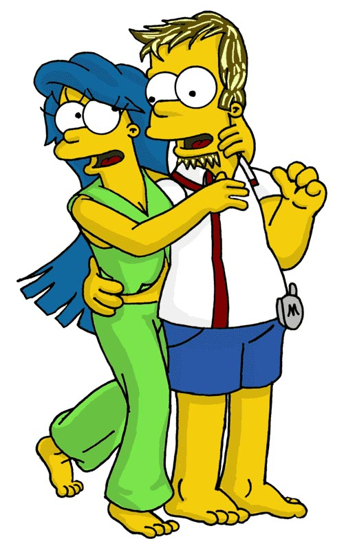 Teen Homer and Marge by simpspin
