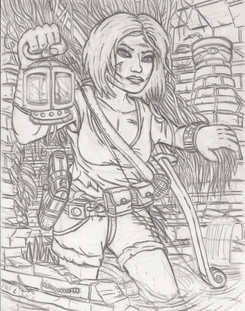 Lara Croft Sketch by simpspin