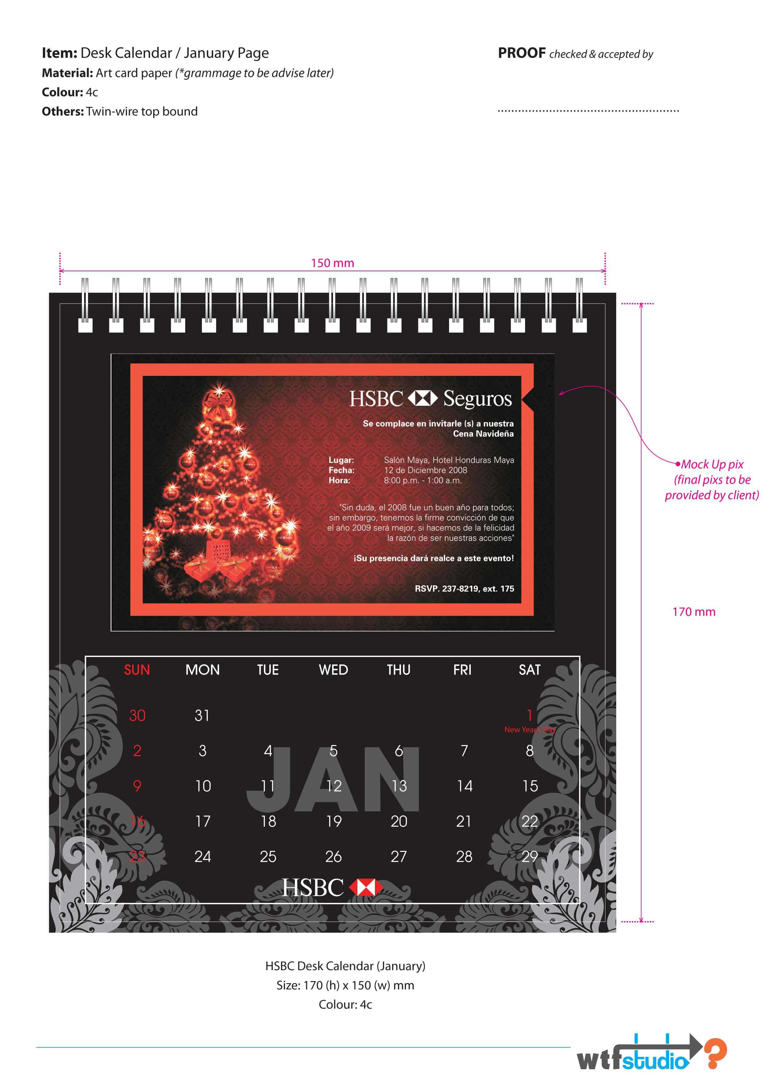 Deviantart Calendar : Hsbc desk calendar propose by phyoeminthaw on deviantart