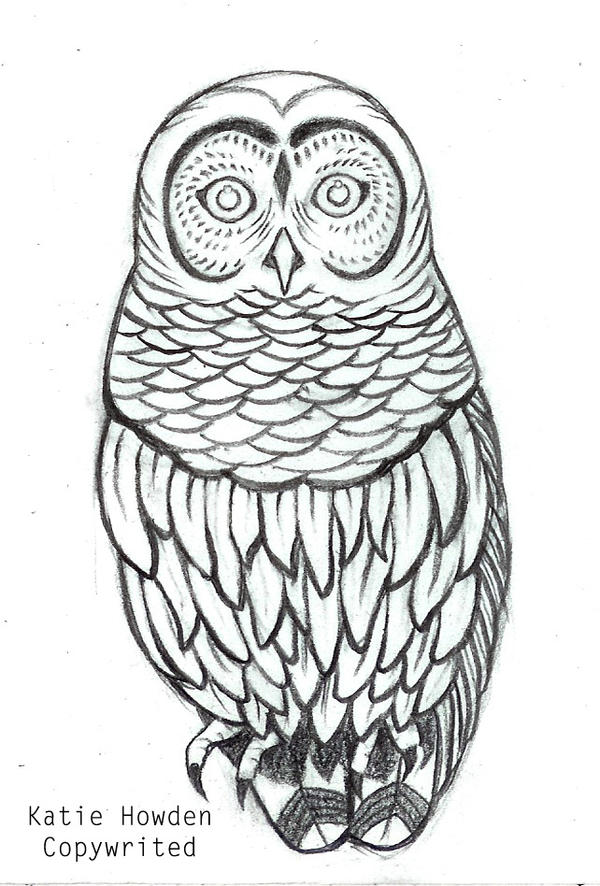 Little owl outline tattoo - photo#43