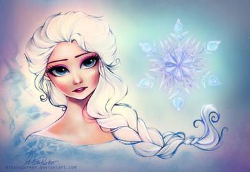 Fragile Snowflake - Elsa [Frozen] by MitsouParker