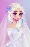 Elsa's Wedding by MitsouParker