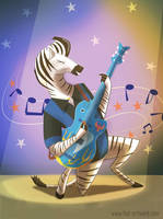 Rockabilly Zebra by Fad-Artwork