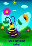Spring Bee Postcard 2018 by Fad-Artwork
