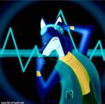 Dog in Blue by Fad-Artwork