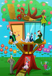 Treehouse in Springtime by Fad-Artwork