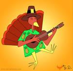 The Ukulele Turkey by Fad-Artwork