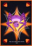 Fall Spider Postcard 2018 by Fad-Artwork