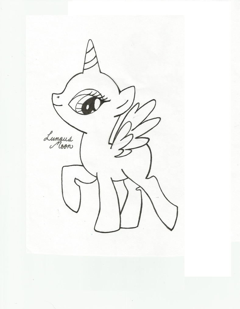 My little pony coloring pages bases - Mlp Fim Alicorn Base By Lunausmoon