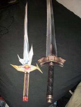 Warrior of Light SOLDIER papercraft swords