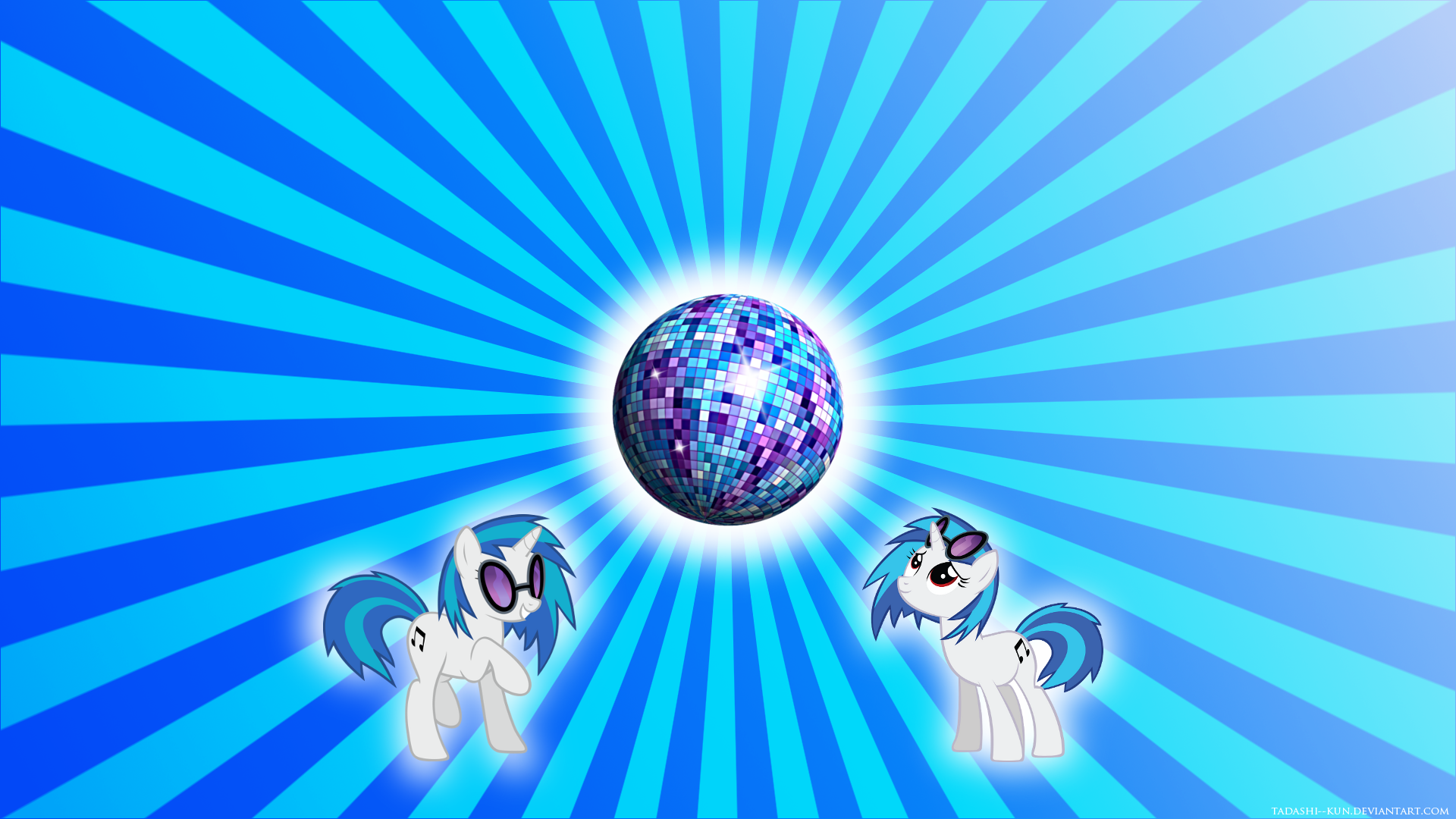 Vinyl Scratch Disco Ball Wallpaper by Tadashi--kun
