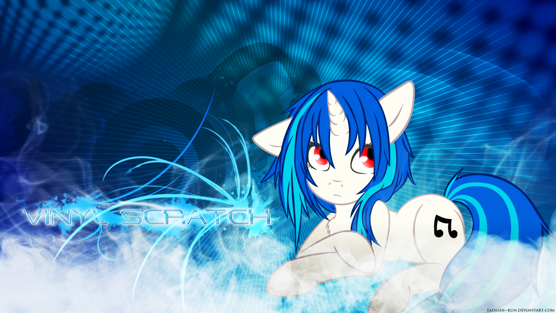 Blue Energy Flow - Wallpaper by Tadashi--kun