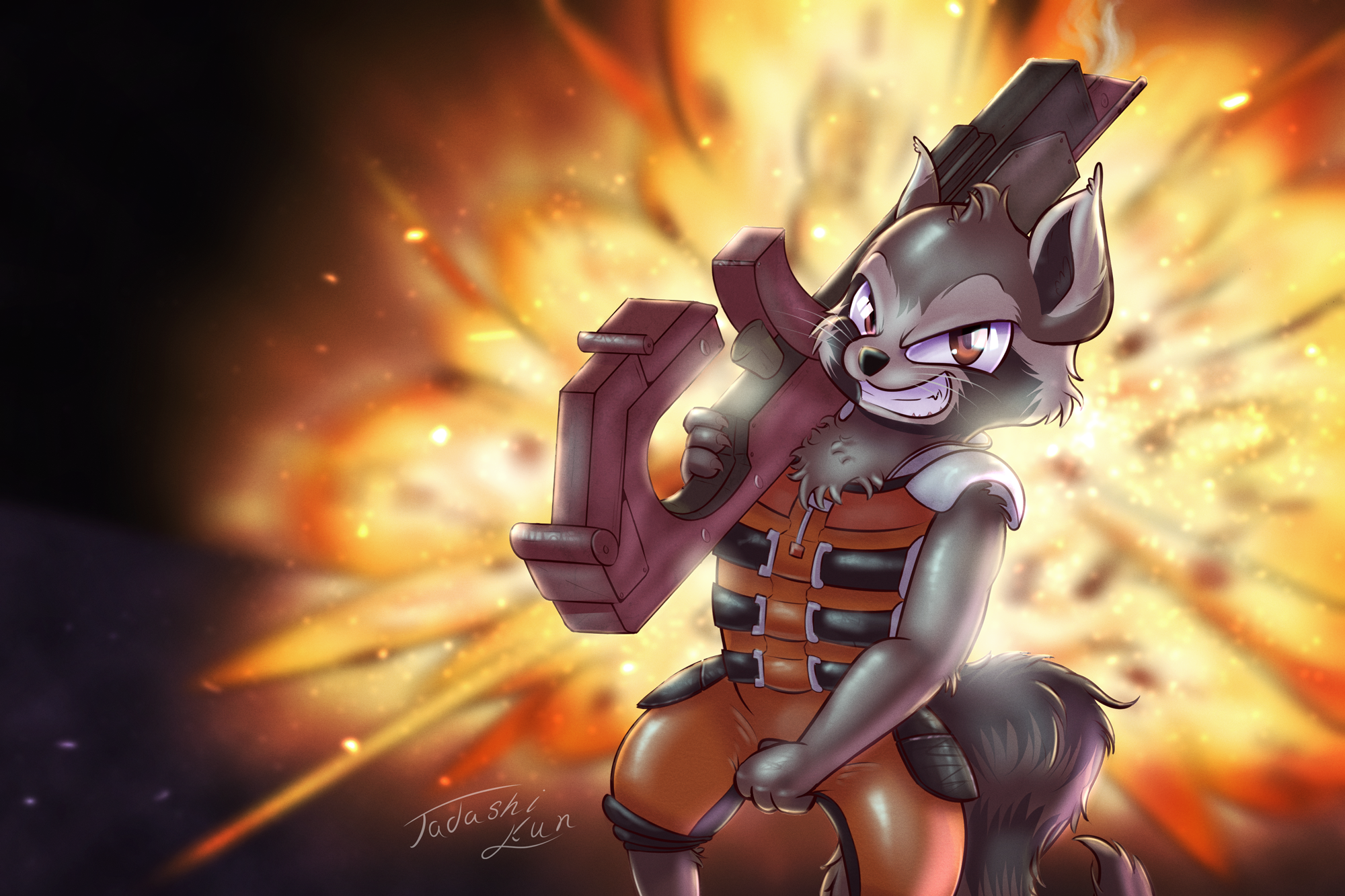 Rocket Raccoon by Tadashi--kun