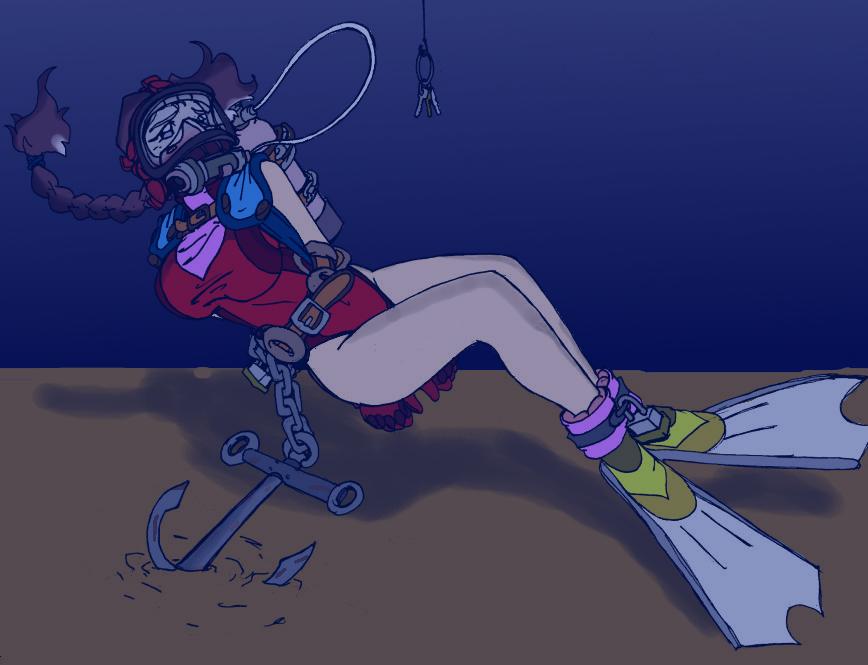 Space suit cartoon girl