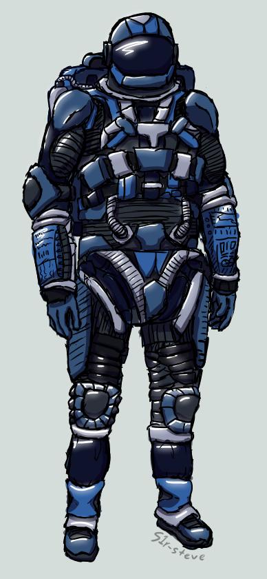 Realistic Among Us Blue Astronaut
