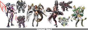Vasteel Heart Mecha Girls by robekka
