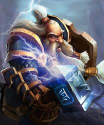 The Dwarf Warrior by robekka