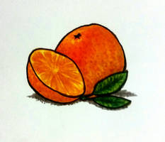 Orange you glad I drew this? (practice) by DrizzleDaydream