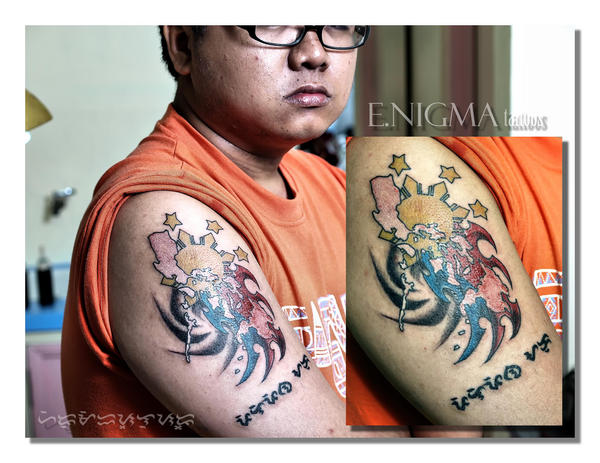 (pinoy pride by ~eslu on ) philippine flag tattoo designs