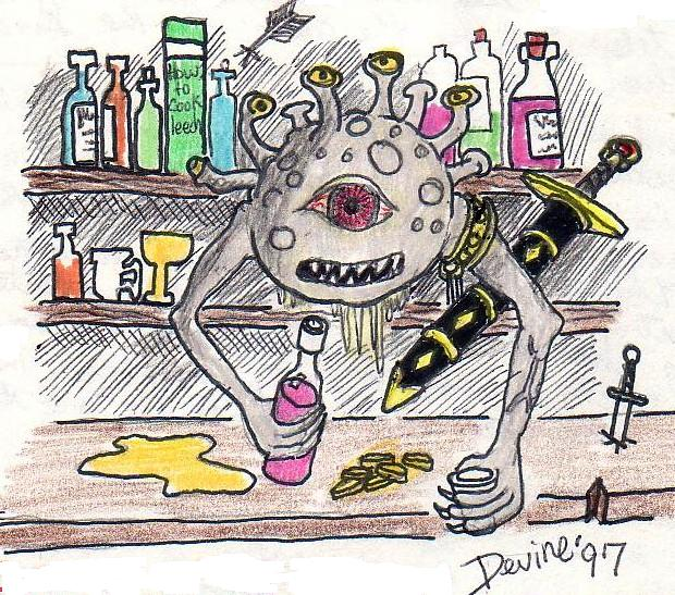 Beholder Barkeep by Mistgod