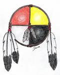 medicine wheel colored pencil by Mistgod